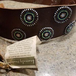 Heavenly Treasures Handcrafted Beaded Wide Belt